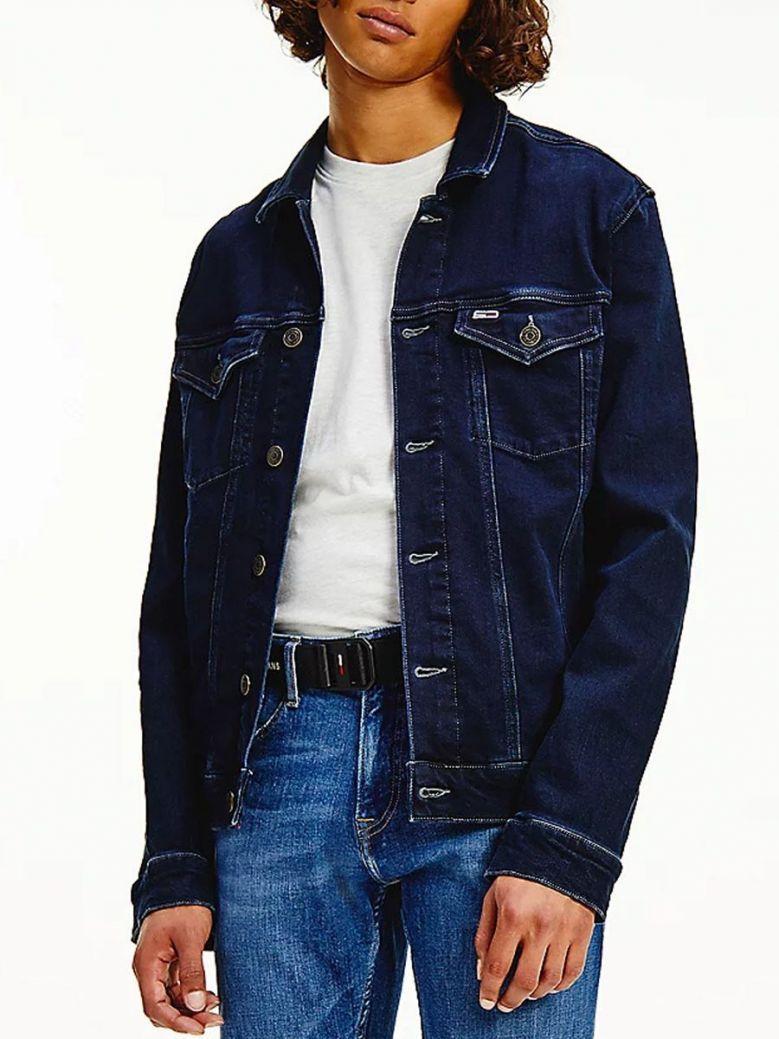 Tommy Jeans Faded Trucker Jacket Dark Denim