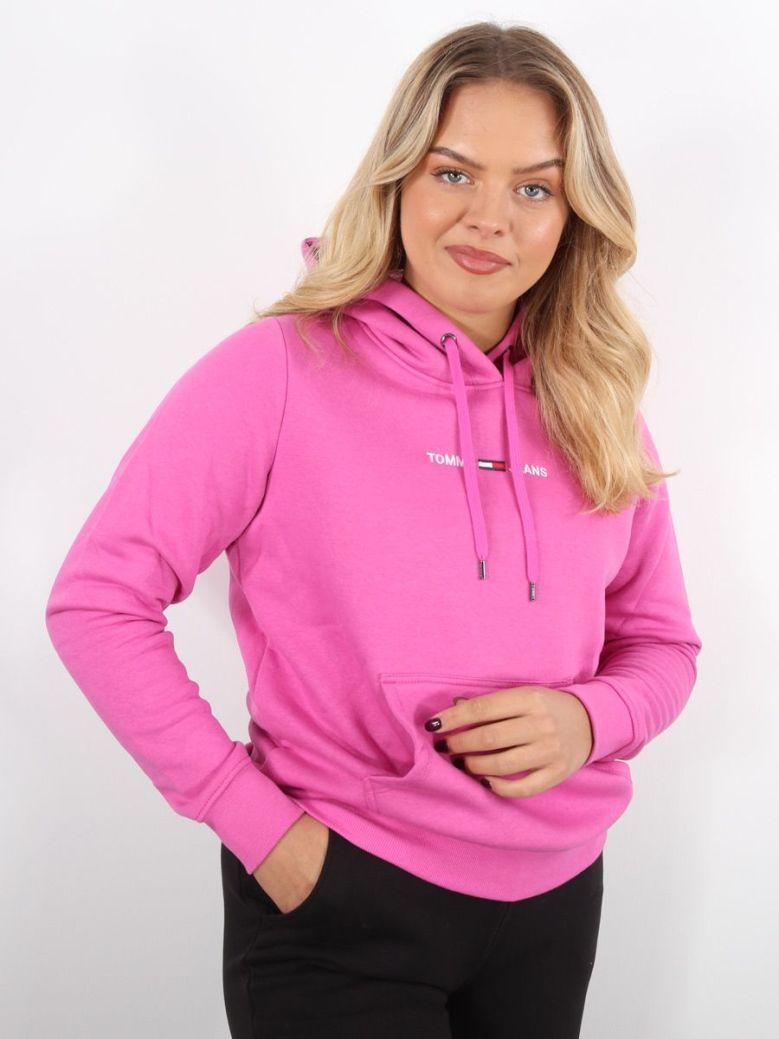 Tommy Jeans Linear Logo Hoody Pink