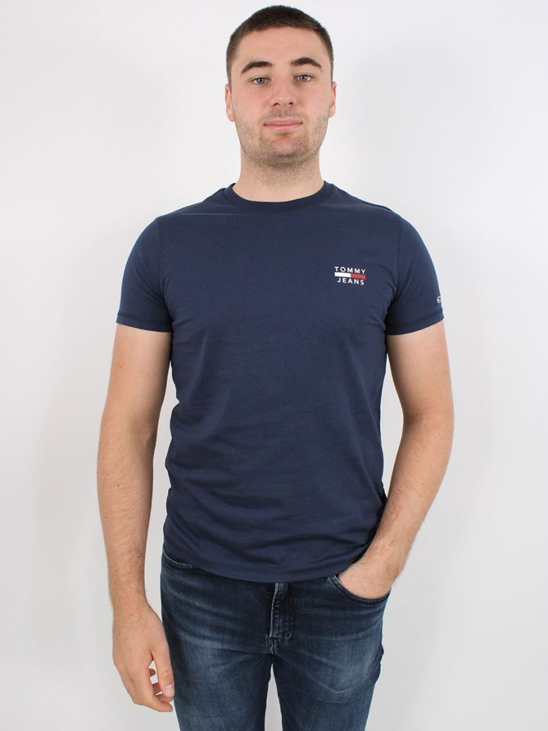 Tommy Jeans Mens Organic Cotton T-Shirt Navy
