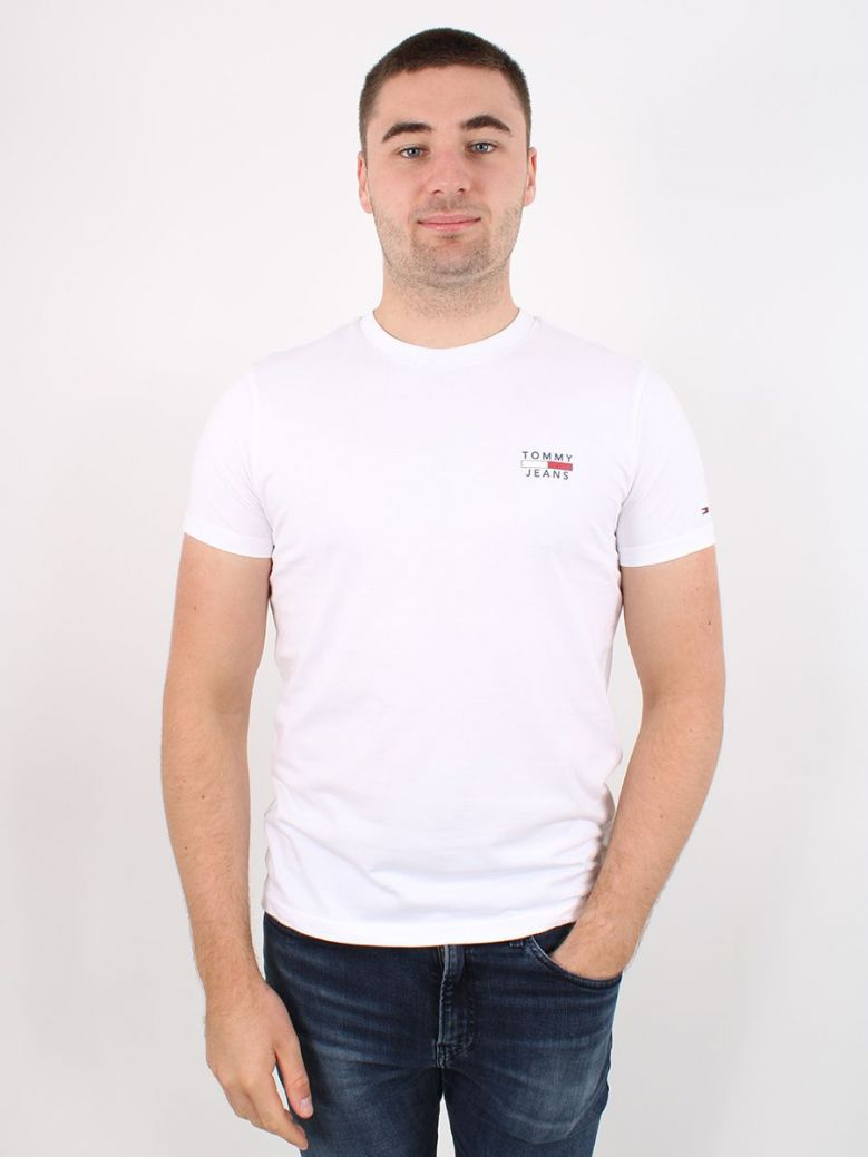 Tommy Jeans Mens Organic Cotton T-Shirt White