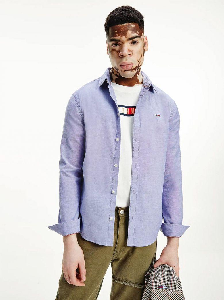 Tommy Jeans Stretch Oxford Shirt Blue