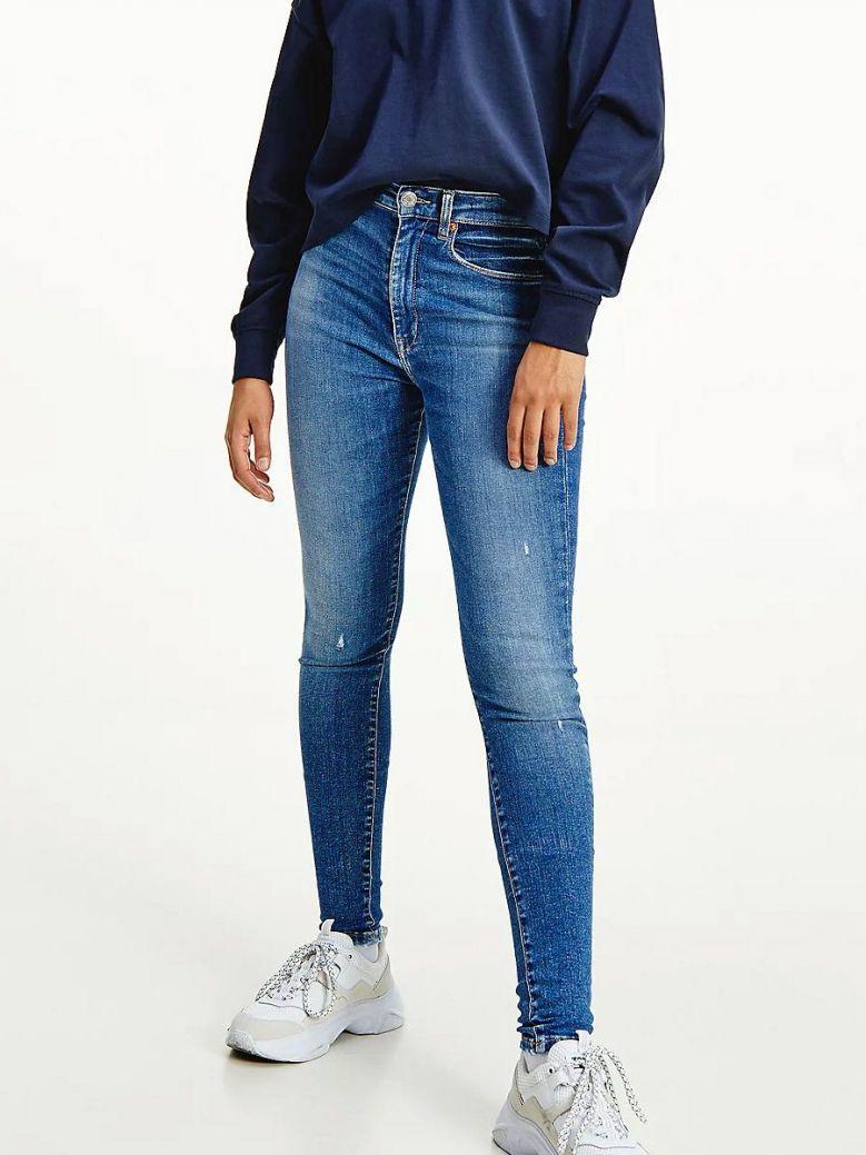 Tommy Jeans Sylvia High Rise Super Skinny Jeans Medium Denim