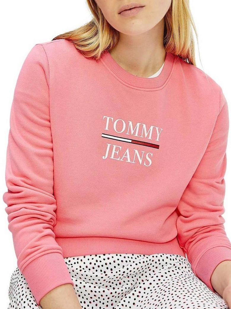 Tommy Jeans Terry Logo Sweatshirt Pink