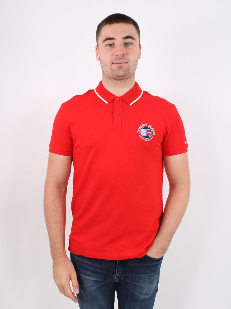 Tommy Jeans Timeless Polo Red