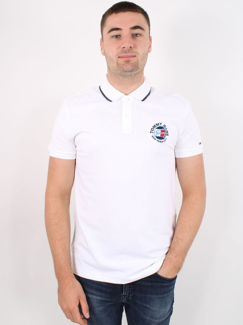 Tommy Jeans Timeless Polo White