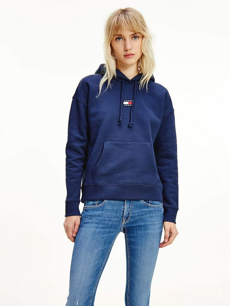 Tommy Jeans Tommy Badge Hoody Navy
