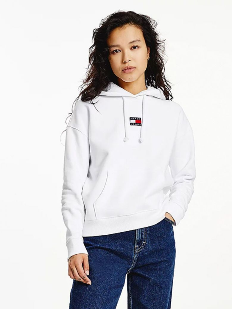 Tommy Jeans Tommy Badge Hoody White