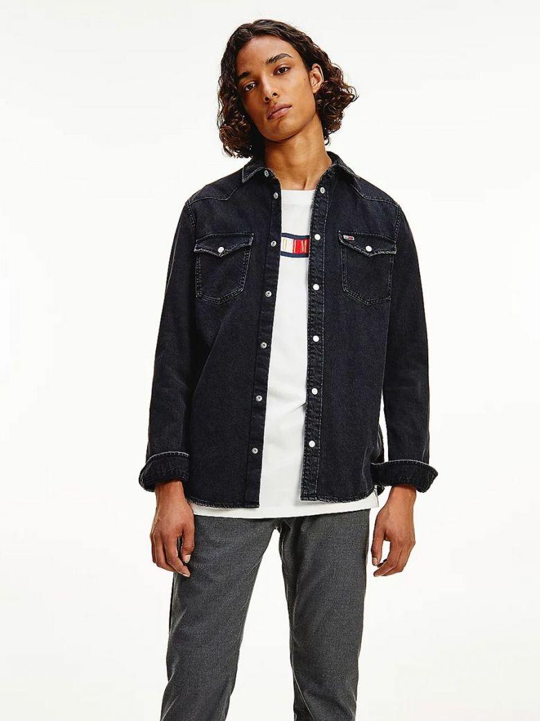 Tommy Jeans Western Denim Shirt Black