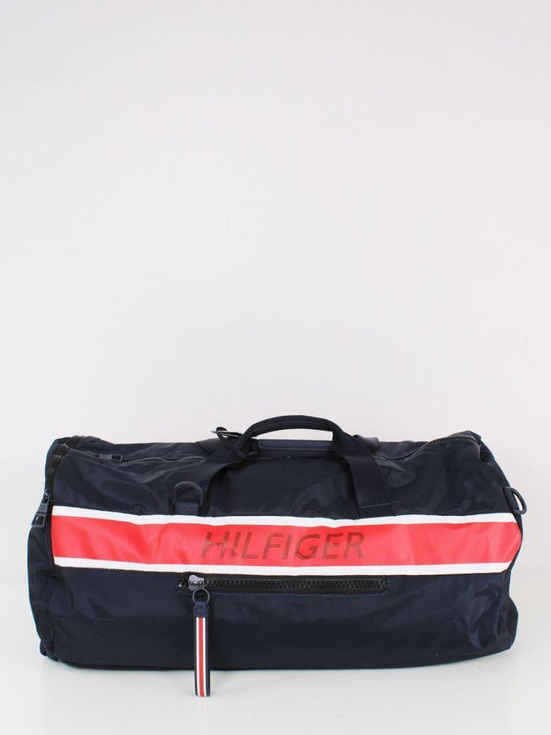 Tommy Hilfiger Logo Convertible Duffel Bag Navy