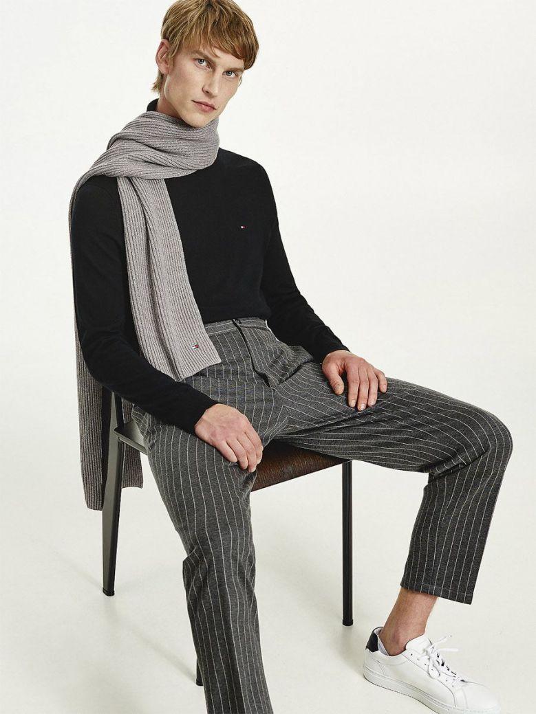 Tommy Hilfiger Pima Cotton Cashmere Scarf Mid Grey