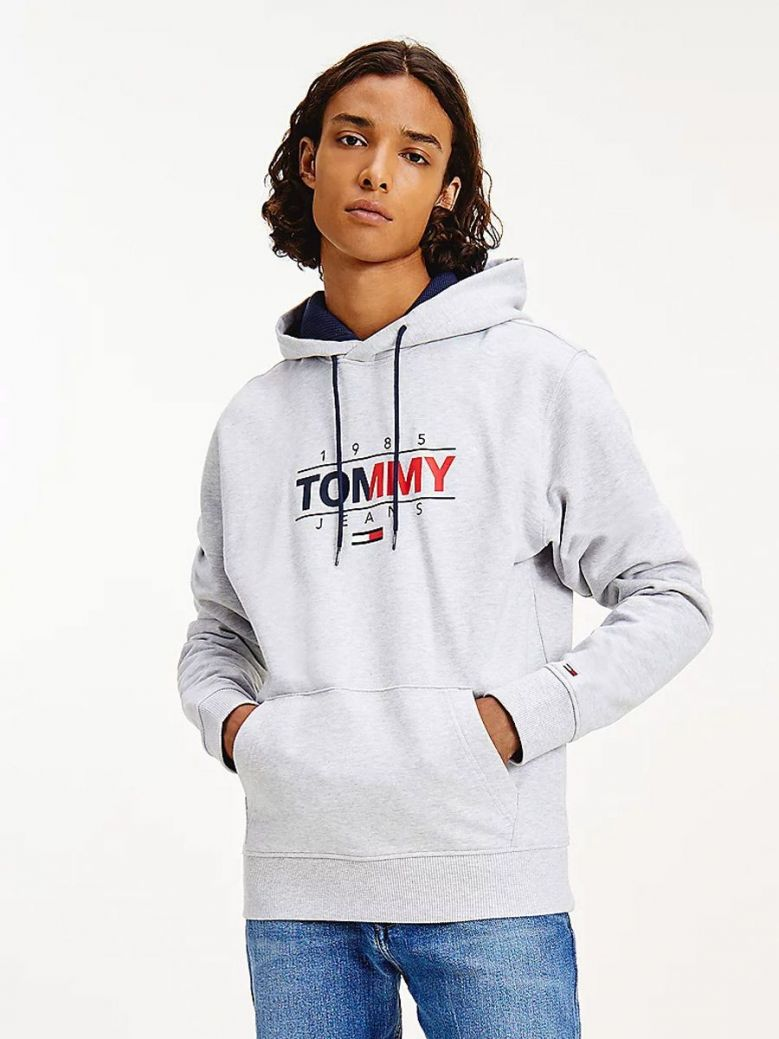 Tommy Jeans Essential Graphic Hoody Grey