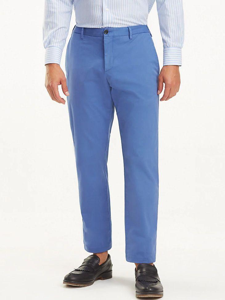 Tommy Hilfiger Riviera Blue Flex Slim Fit Trousers