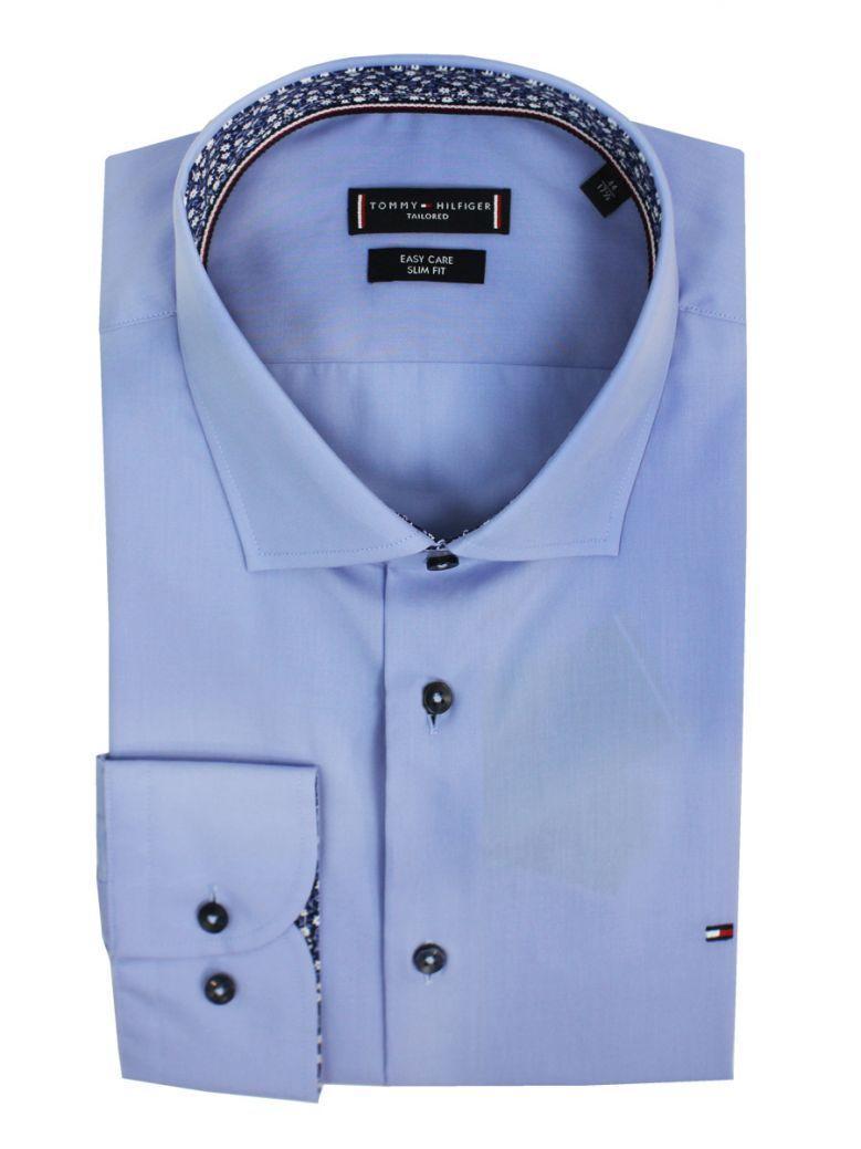Tommy Hilfiger Blue Poplin Classic Slim Fit Shirt