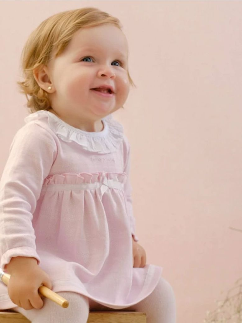 Tutto Piccolo Dress And Tights Set Pink