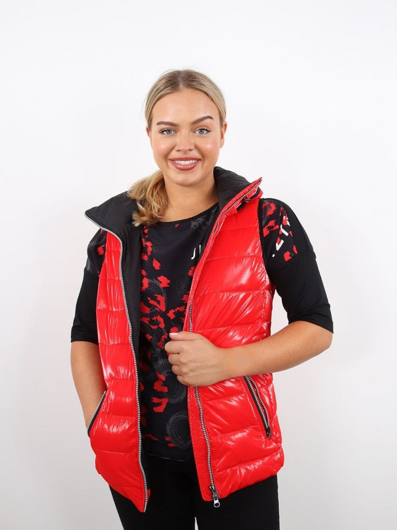 Tuzzi Hooded Gilet Red
