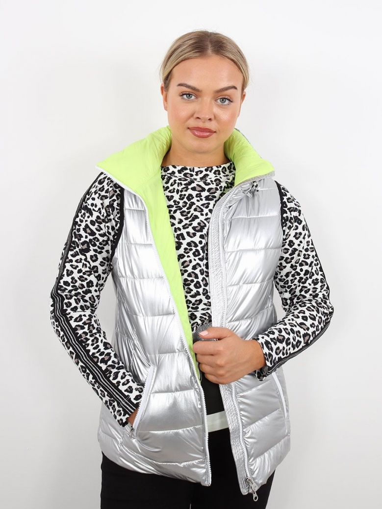 Tuzzi Hooded Gilet Silver