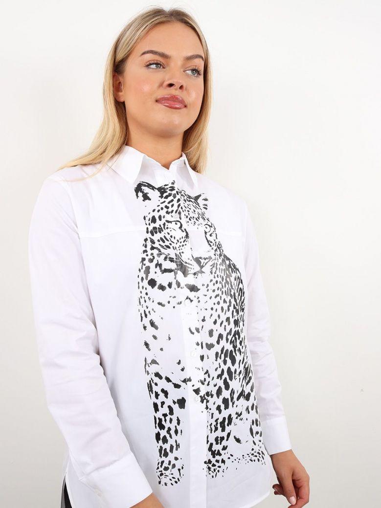 Tuzzi Tiger Print Shirt White