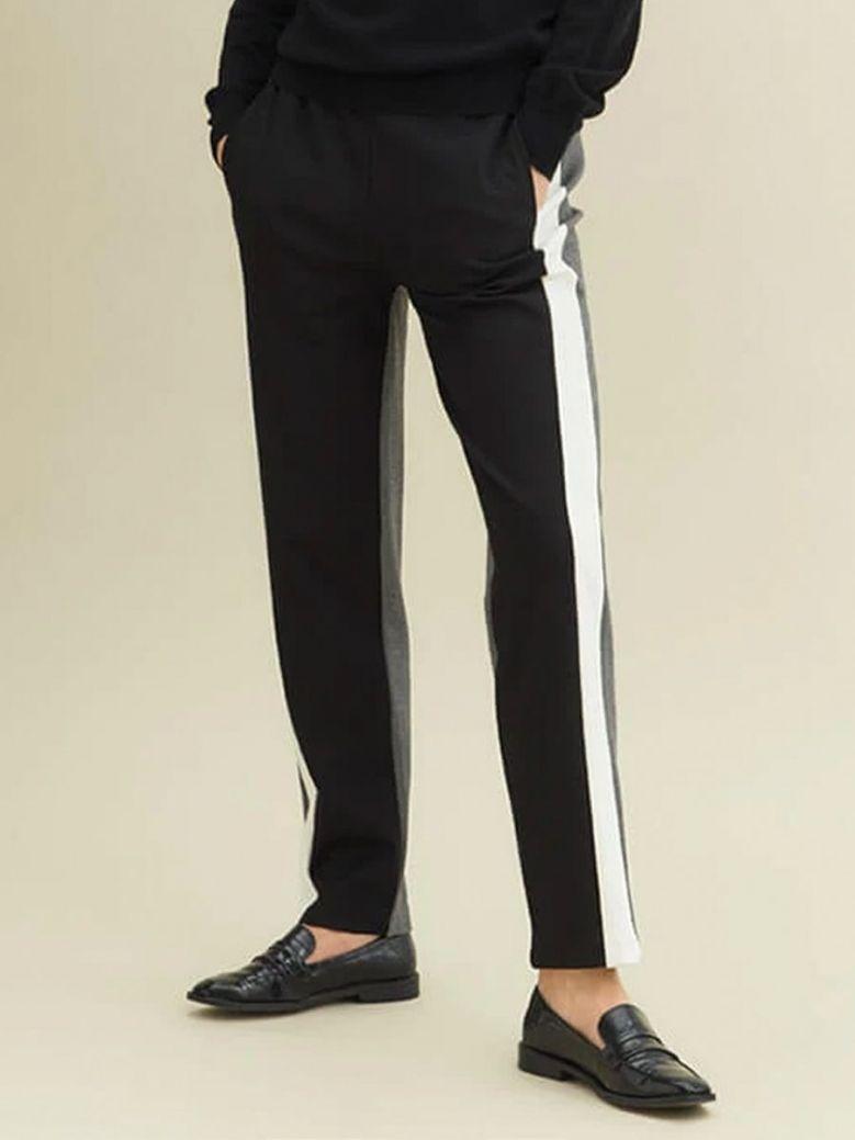 Uchuu Mix Stripe Sports Luxe Trousers Black
