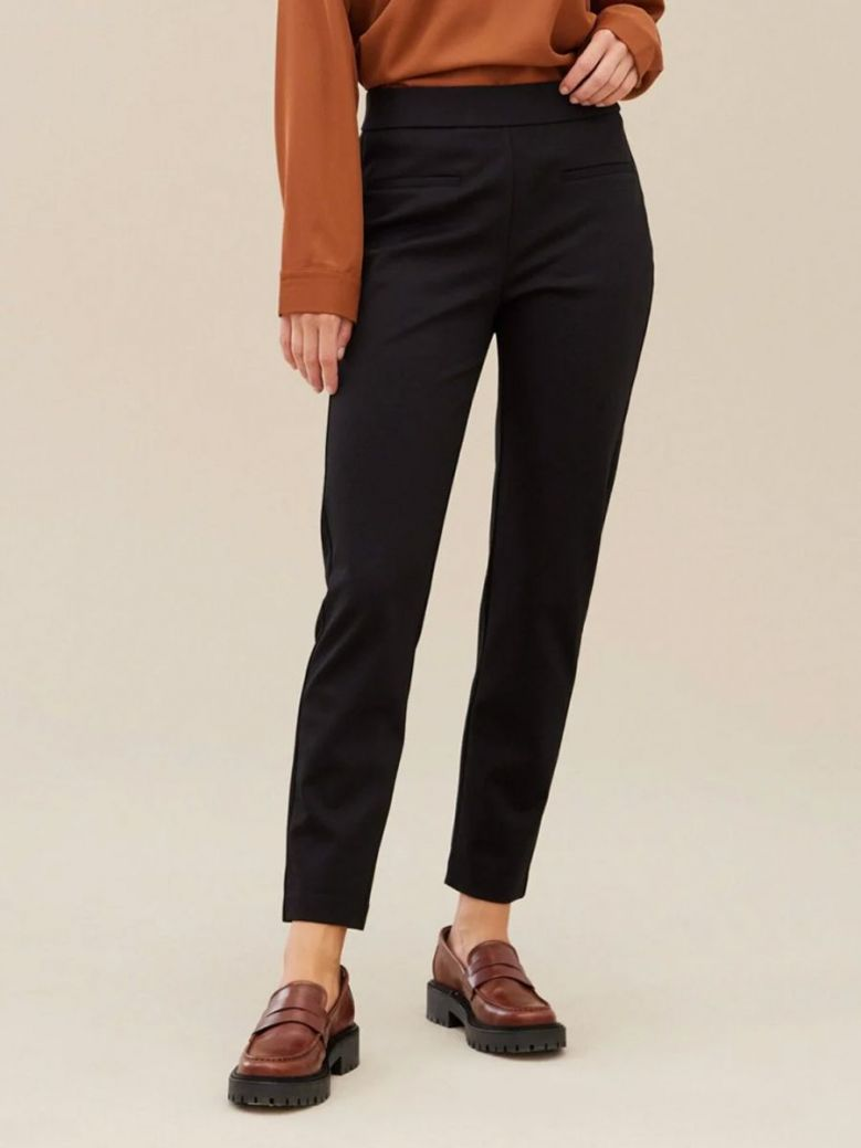 Uchuu Ponte De Roma Ankle Length Trousers Black