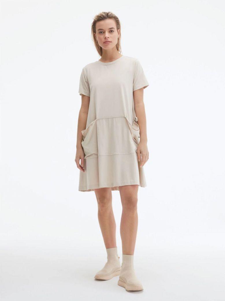 Uchuu Round Neck Dress Beige