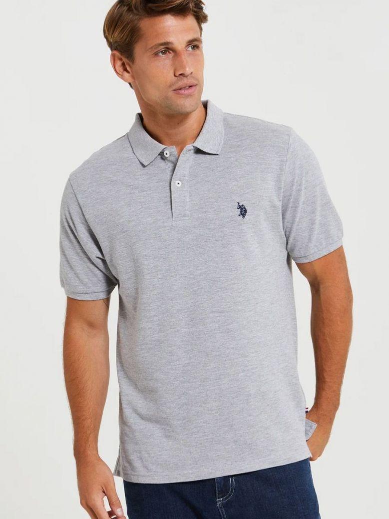 U.S. Polo Assn. Core Pique Polo Shirt Grey