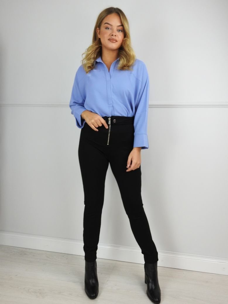 Uchuu Periwinkle Blue Relaxed Blouse