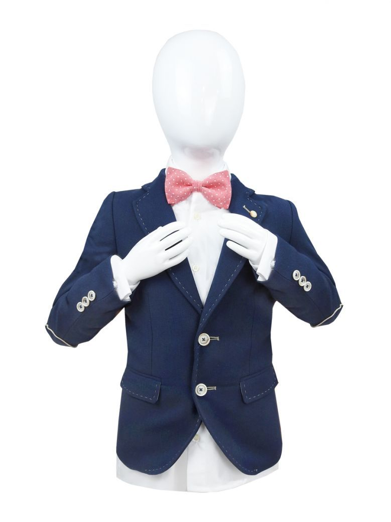 Varones Navy Boys Textured Blazer