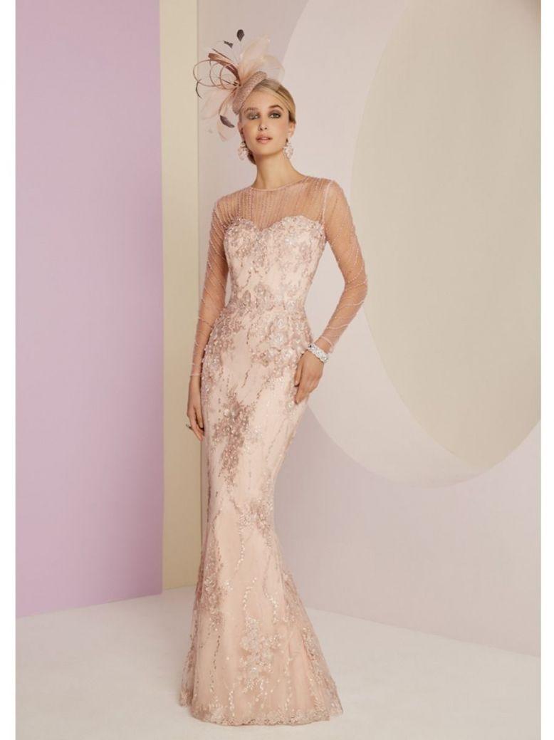 Veni Infantino for Ronald Joyce Lace Evening Dress, Vintage Rose, Style 991446L