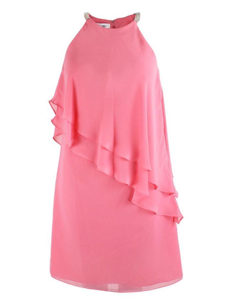 Veromia Occasions Asymmetric Chiffon Layer Dress, Coral, Style VO1424S8