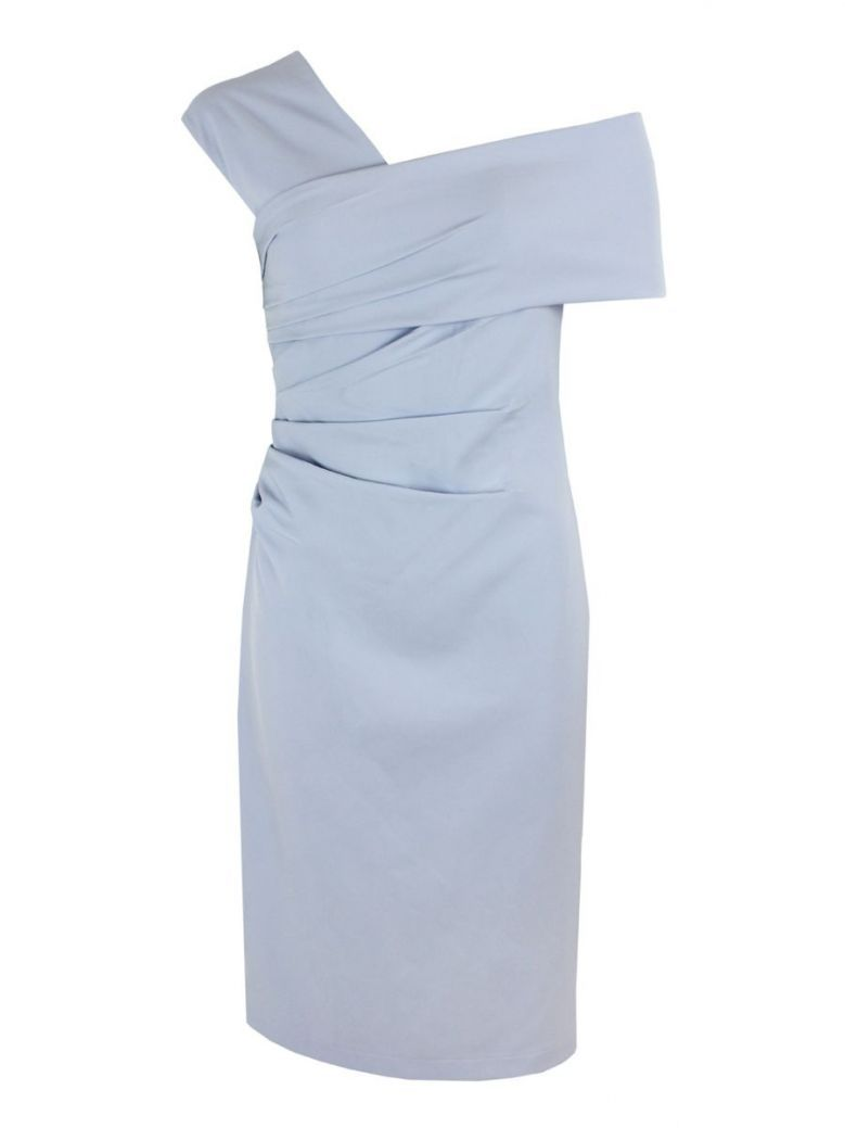 Veromia Occasions One Shoulder Midi Dress, Sky Blue, Style VO56GS9