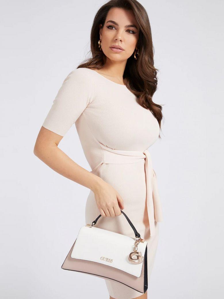 Guess Stone Multi Dalma Logo Charm Handbag