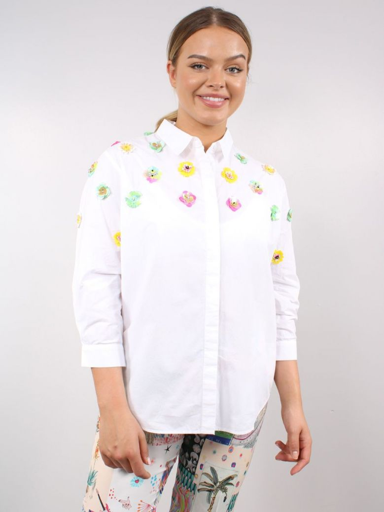 Vilagallo Sophie Detailed Shirt White