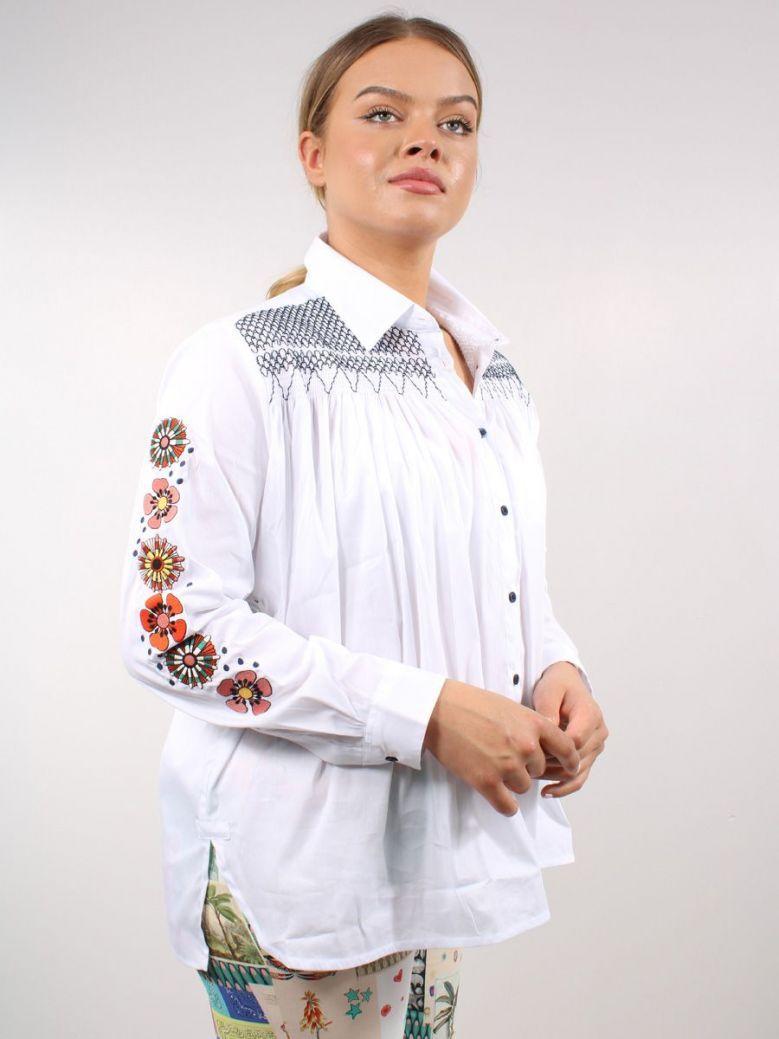 Vilagallo Andrea Embroidered Confort Shirt White