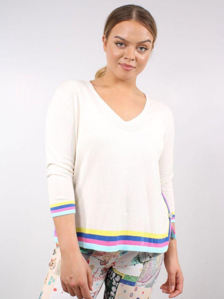 Vilagallo Knitted Lavinia Sweater Cream
