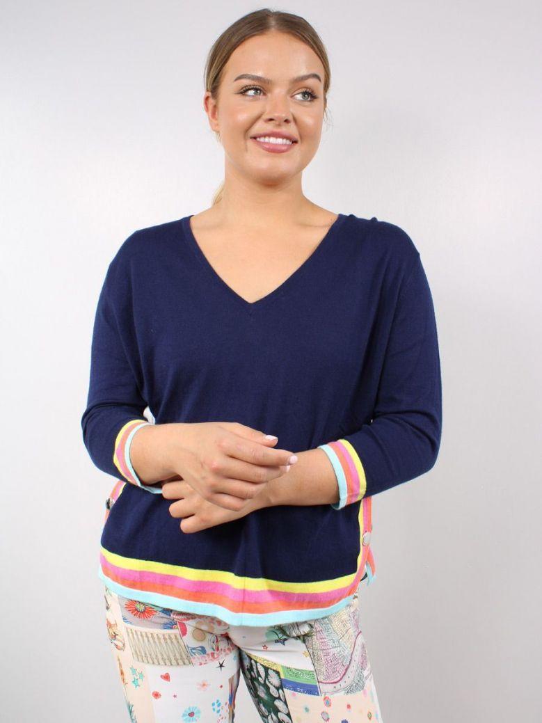 Vilagallo Knitted Lavinia Sweater Navy