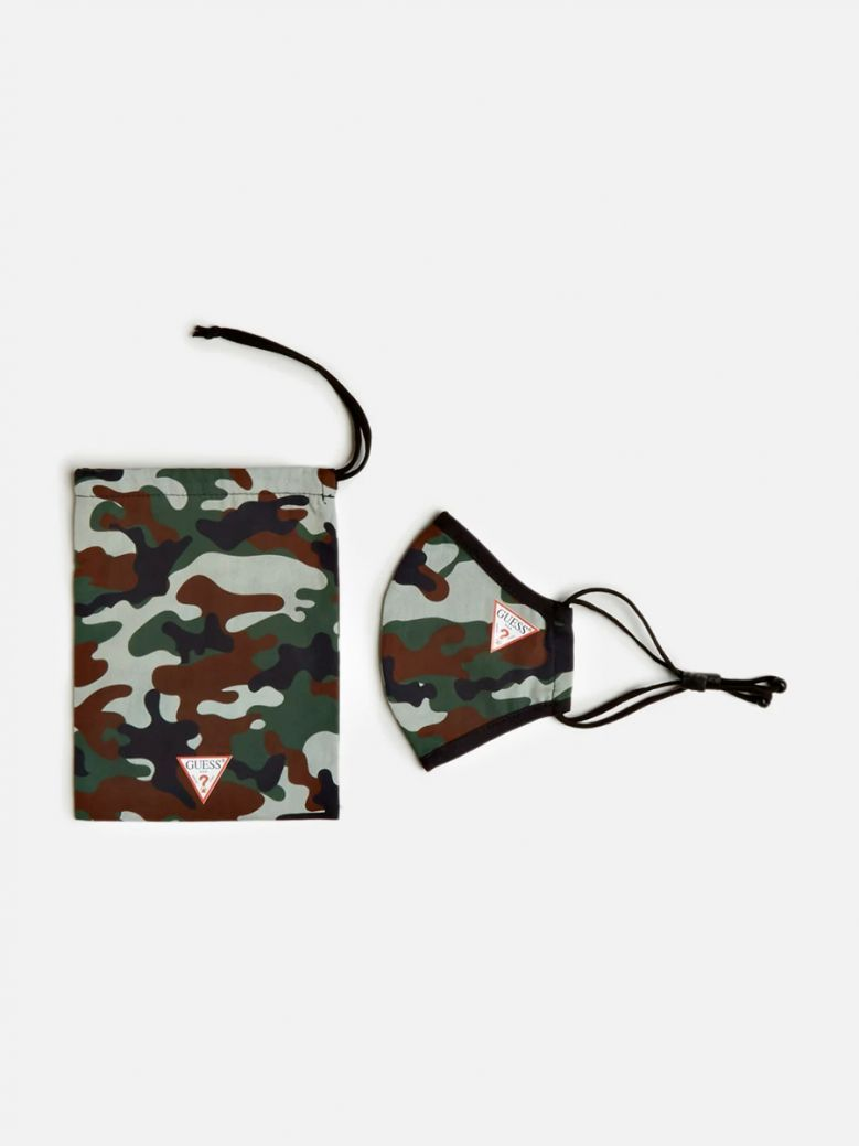 Guess Adult Camouflage Face Mask