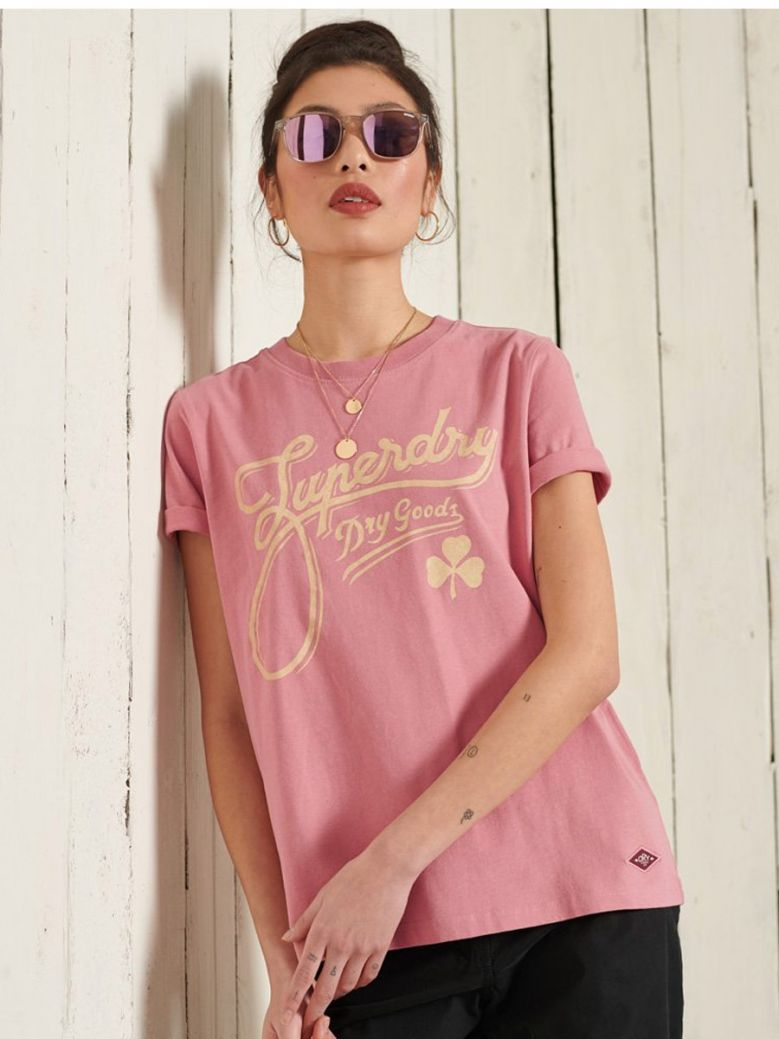 Superdry Dusty Rose Workwear Graphic T-Shirt