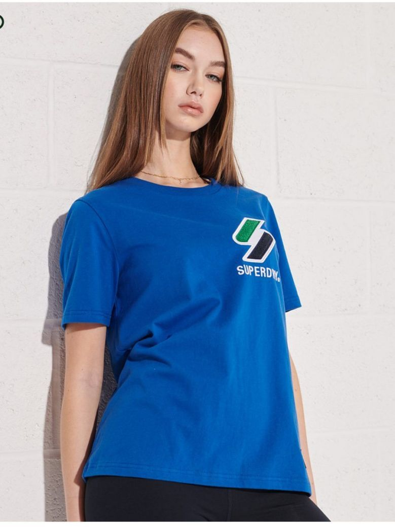 Superdry Royal Blue Sportstyle Chenille T-Shirt