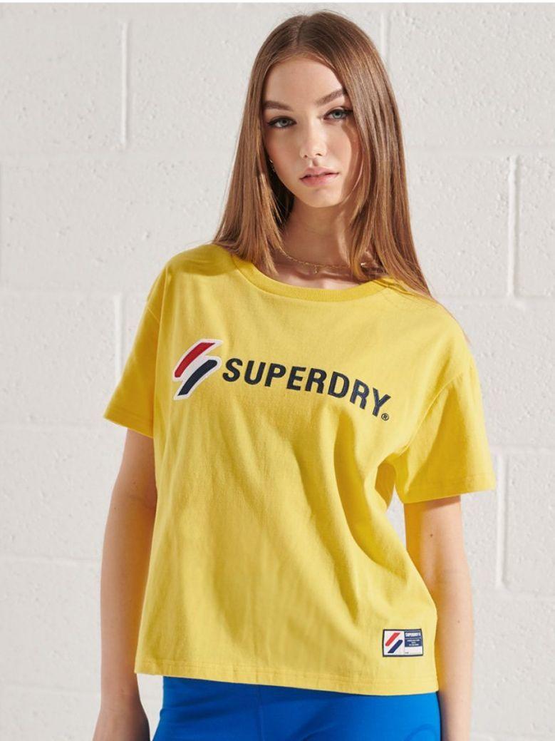 Superdry Nautical Yellow Sportstyle Graphic Boxy T-Shirt