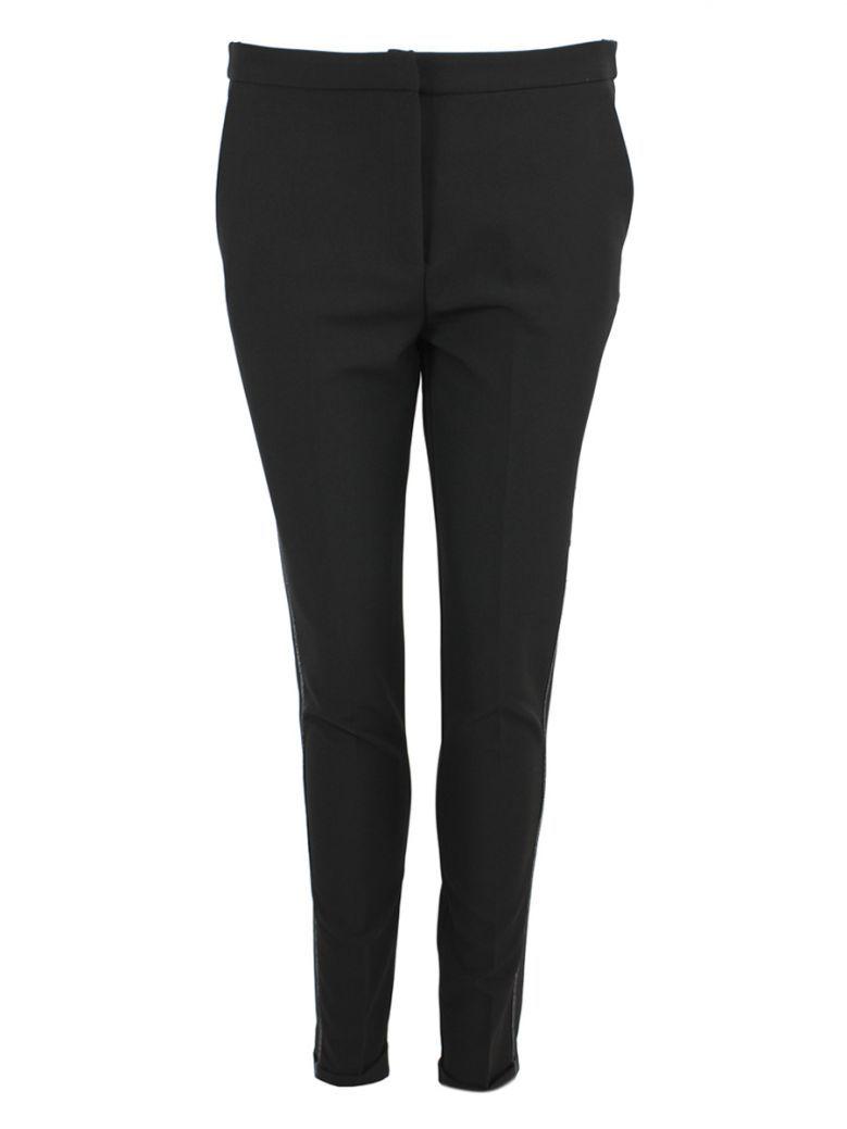 Peruzzi Black Detail Seam Trousers