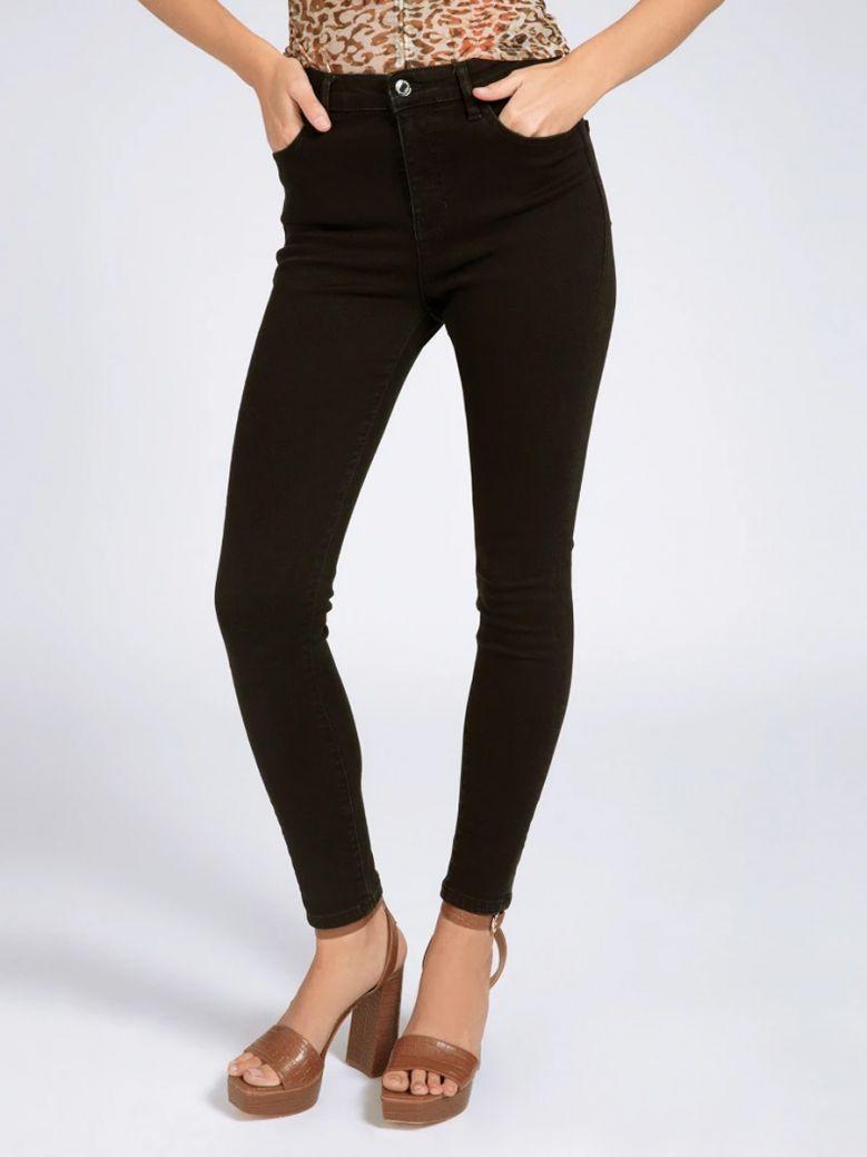 Guess Ladies Black Skinny Fit Denim Pant
