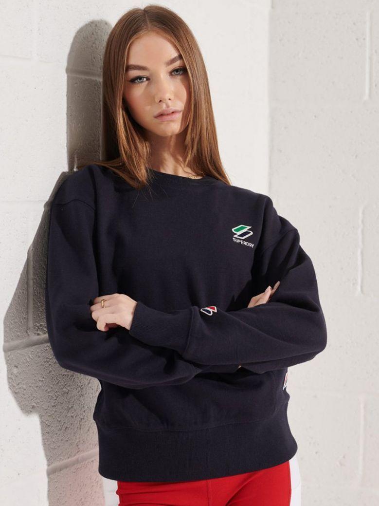 Superdry Deep Navy Sportstyle Essential Crew Sweatshirt