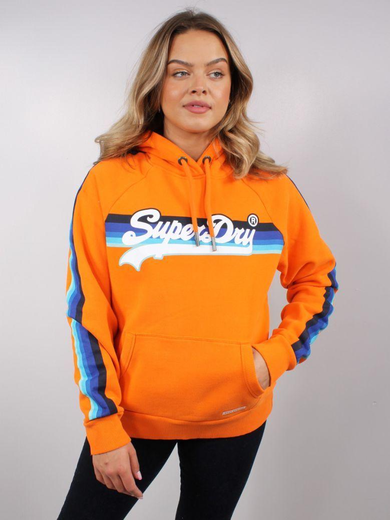 Superdry Shocker Orange VL Cali Raglan Hoodie