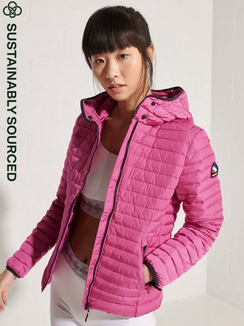 Superdry Hot Pink Core Down Jacket