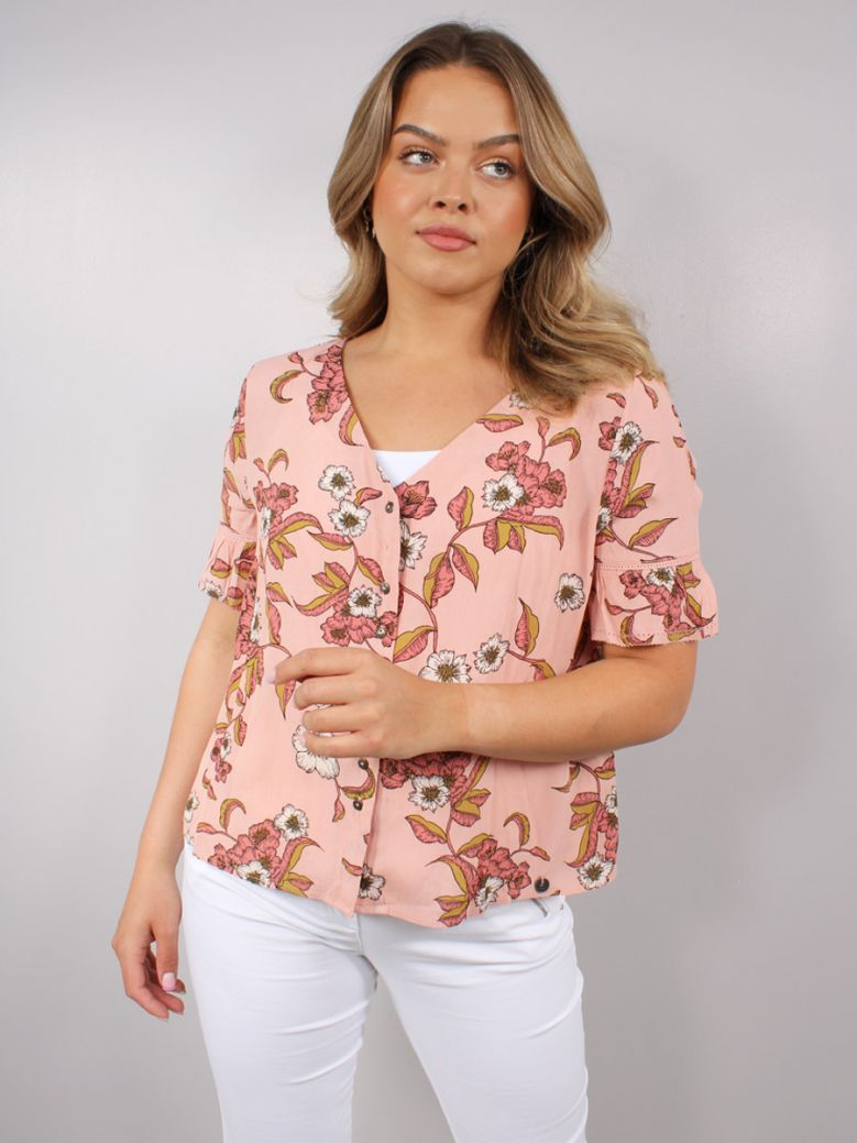 Superdry Rusted Floral Print Blouse