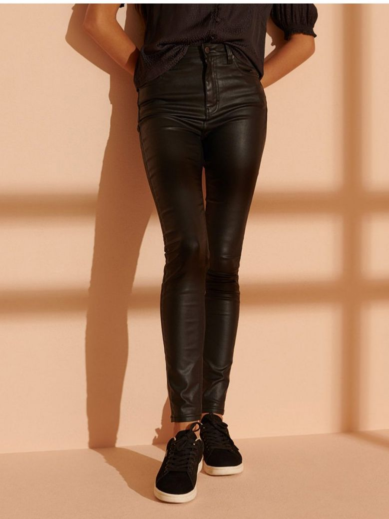 Superdry Waxed Black High Rise Skinny Jeans