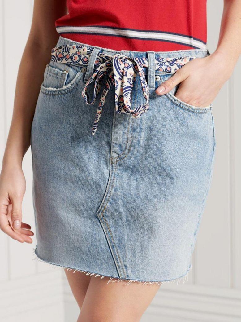 Superdry Florence Light Vintage Denim Mini Skirt