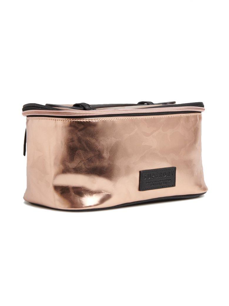 Superdry Pink Camo Vanity Bag