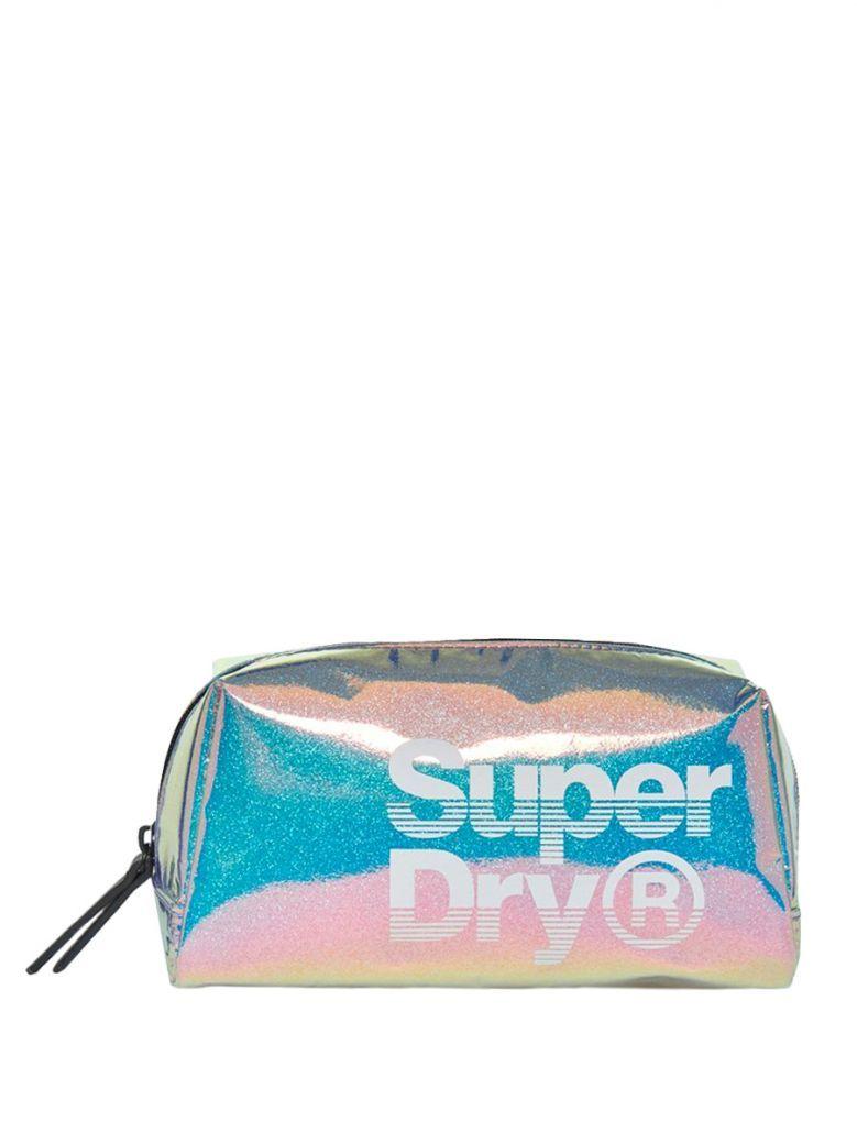 Superdry Blue Holographic Washbag