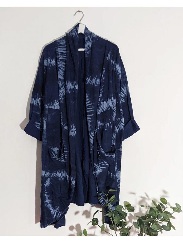 Cilento Woman Navy Tie Dye Waterfall Style Jacket
